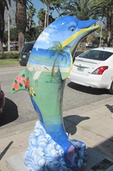 Florida Venice decorated street dolphin1