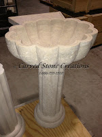 La Concha Pedestal Sink, Honed Light Oriental Travertine
