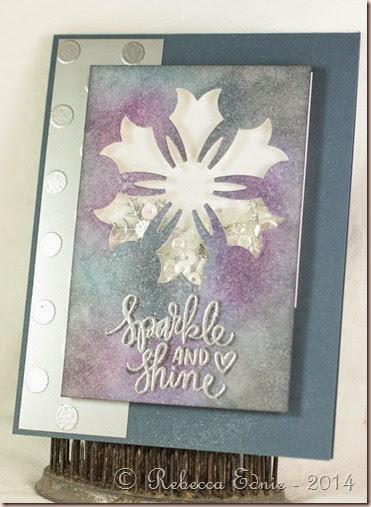 snowflake shaker card