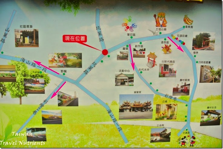 坑口彩繪村地圖
