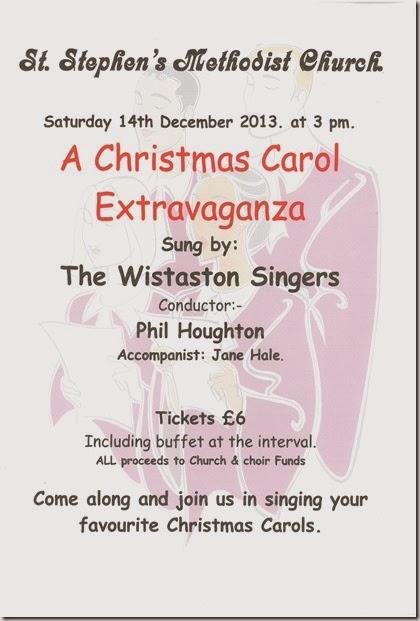 Wistaston Singers - A Christmas Carol Extravaganza - Sat 14 Dec 2013