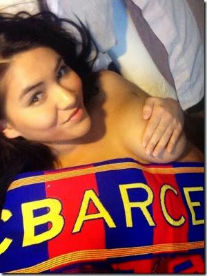 Annabelle selfie bugil barcelona 3