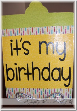 Birthday Board Back {A Sprinkle of This . . . . A Dash of That}