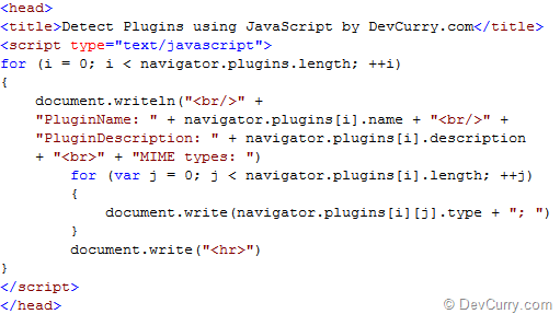 JavaScript: Detect Plug-ins and MIME Types