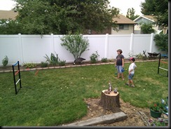 7-30-2011 playing ladder ball