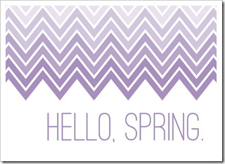 Just Because 45 - Hello, Spring. - purple - 5x7 - Sprik Space