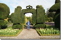 Levens Hall topiary crown with Mr. M