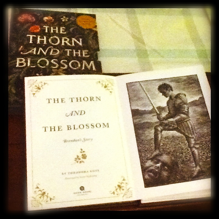 thorn and blossom cover and illustration
