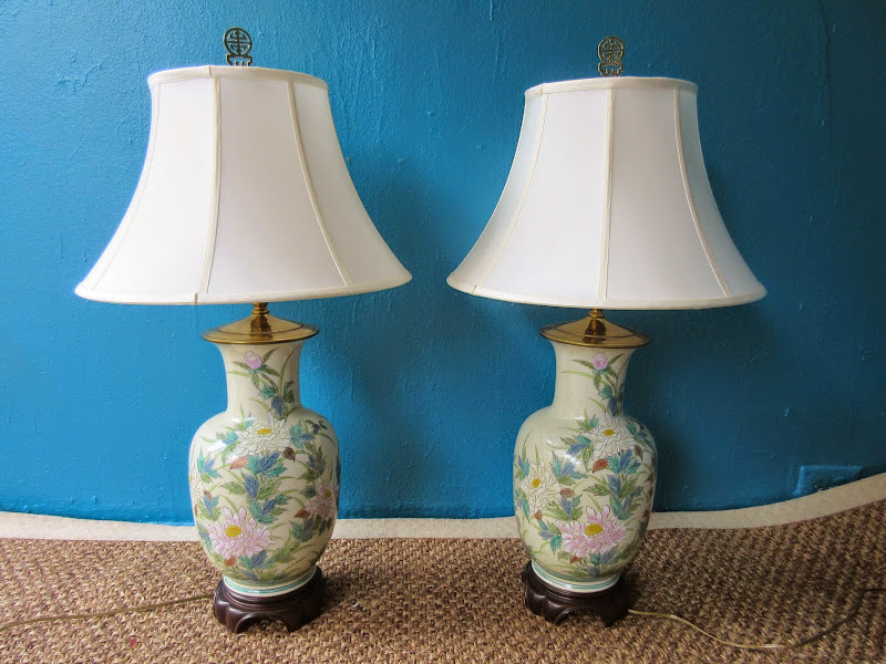 Asian Lamp Pair