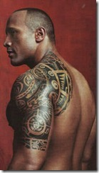 Dwayne Johnson tats (Polynesian sleeve)