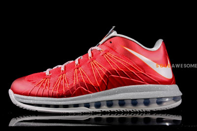 nike lebron 10 low gr ohio state 1 04 First Look at Nike Air Max LeBron X Low Ohio State