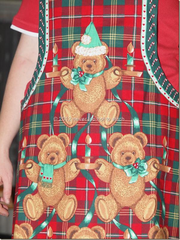 2012 Christmas apron