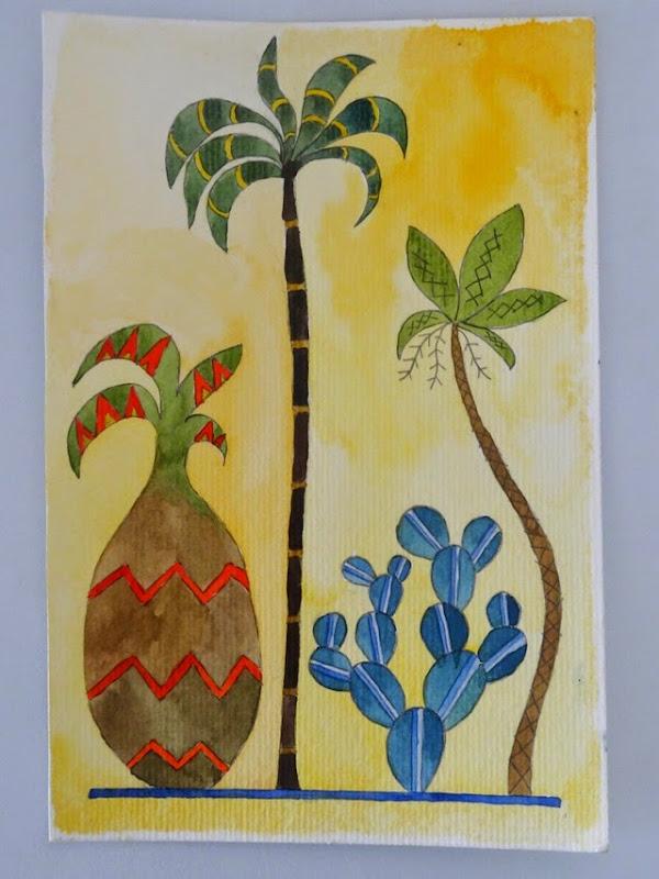 peinture palmiers