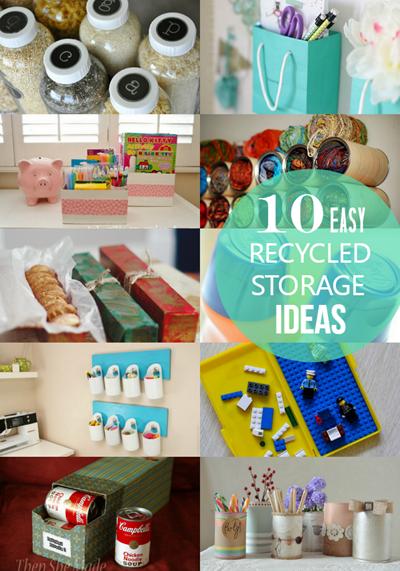 Round Up Recycled Storage Ideas