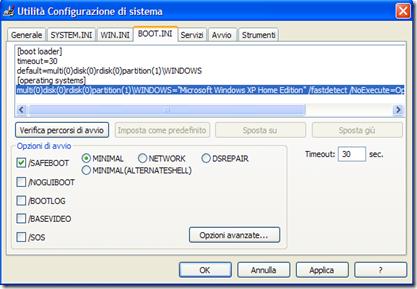 Utilità Configurazione di sistema