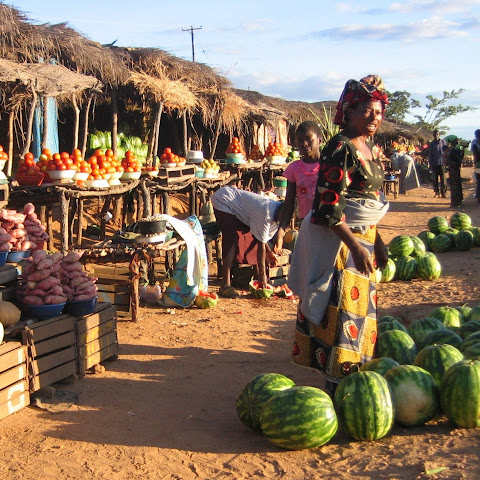 Markets are a good place for small-scale food growers to sell their fruit and vegetables.