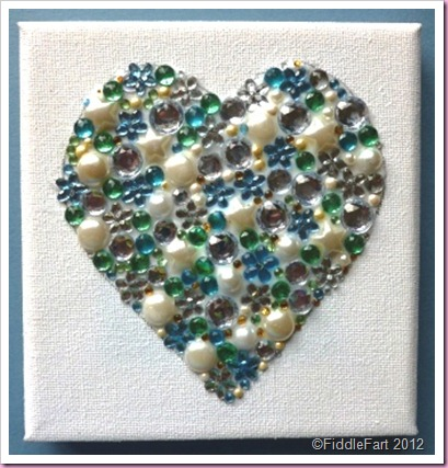 Jewelled Heart Canvas