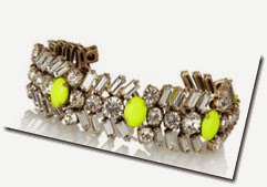 J Crew Crystal and Neon Bracelet