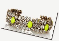 J Crew Crystal and Neon Bracelet