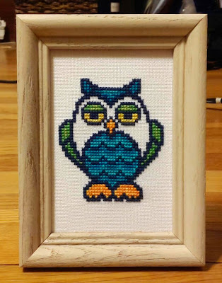 """Wise Owl"" by Sandy Orton - first finish of the snowpocalypse!"