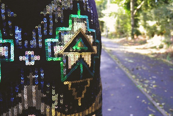 Missguided sequin skirt detail