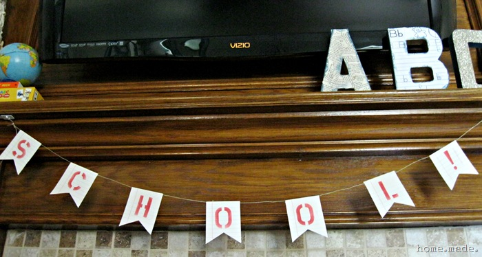 home.made. Notebook Paper Garland