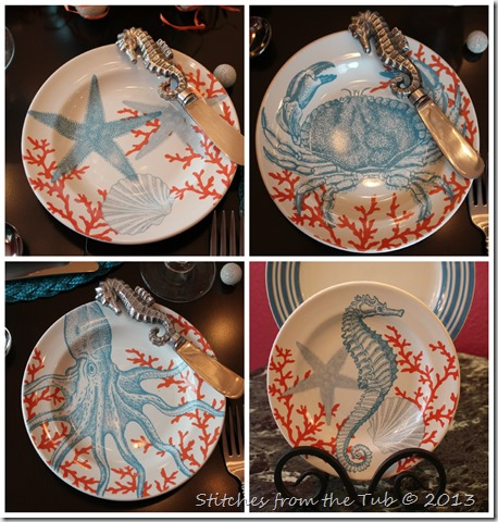 Seahorse Plate Collage