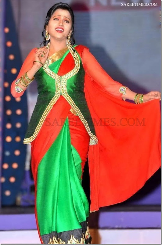 Suma_Green_Red_Saree