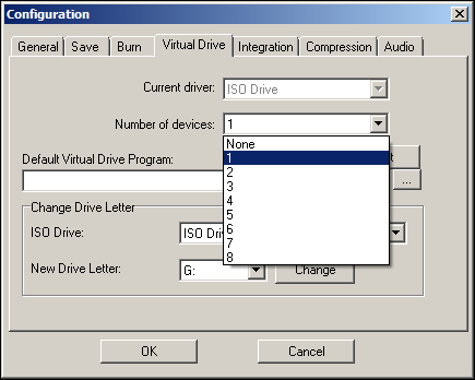 VirtualDrive Config
