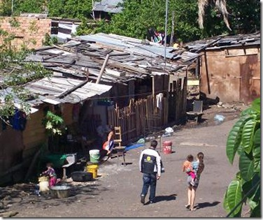 poor neighborhood in Asuncion