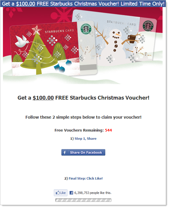 Same scam running at starbucksoffers.net