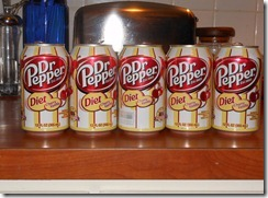 dr pepper cans