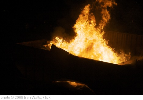 'Fire in Dumpster' photo (c) 2009, Ben Watts - license: http://creativecommons.org/licenses/by/2.0/