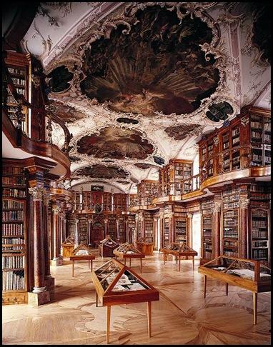 Bibliothèque de l'Abbaye Saint-Gall , Suisse