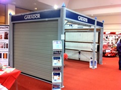 Garador Exhibition Stand at Ideal Homes Show 2013