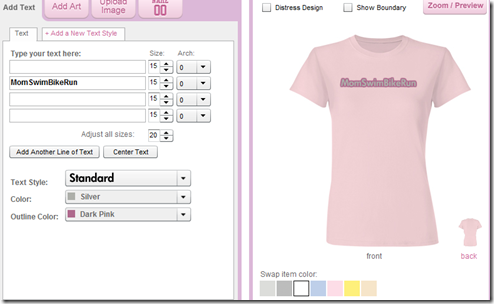 shirt text front