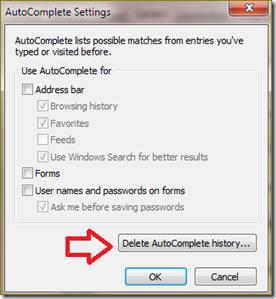 ยกเลิกการจำ password ใน Internet Explorer