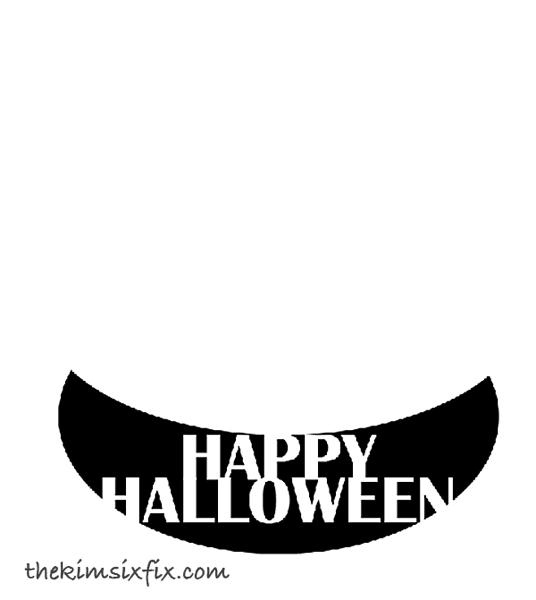 Adding words to pumpkin smile