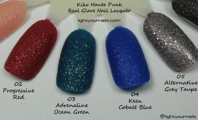 Kiko Haute Punk Real Glare Nail Lacquers