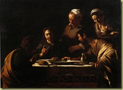 Caravaggio Cena in Emmaus