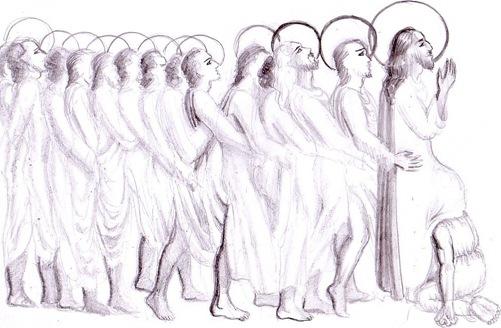 Iisus Hristos Iuda si cei 12 apostoli