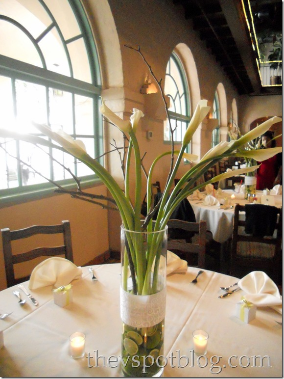 limes, calla lilies, fruit, centerpiece,floral, flower arrangement