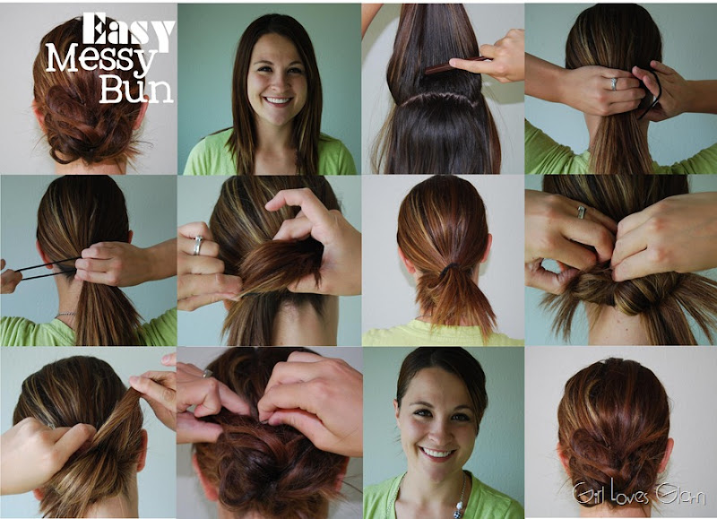 Easy Messy Bun Tutorial - Girl Loves Glam