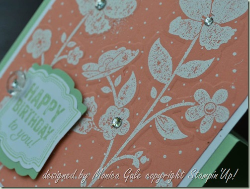 Stampin 'Up! Wildflower Meadow Double embossing close