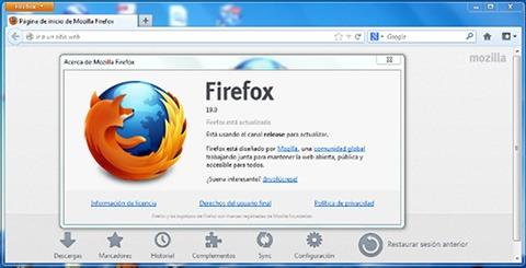Nuevo Firefox 19