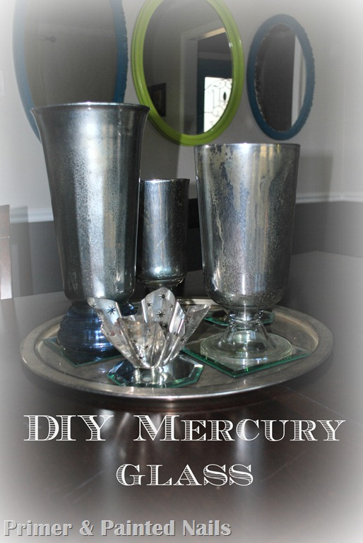 Mercury Glass Vases (3) - Primer & Painted Nails