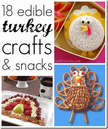 18 Turkey Snacks for Kids #yummy #thanskgiving #preschool