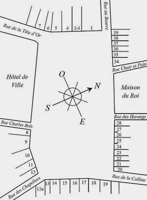 Grand-Place de Bruxelles plan