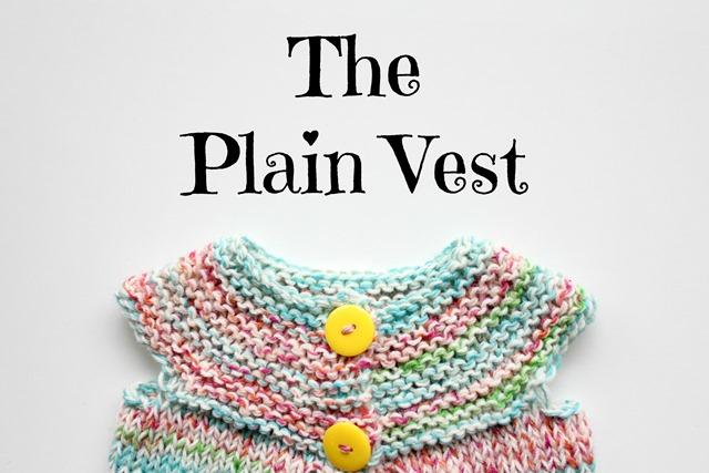 Plain vest