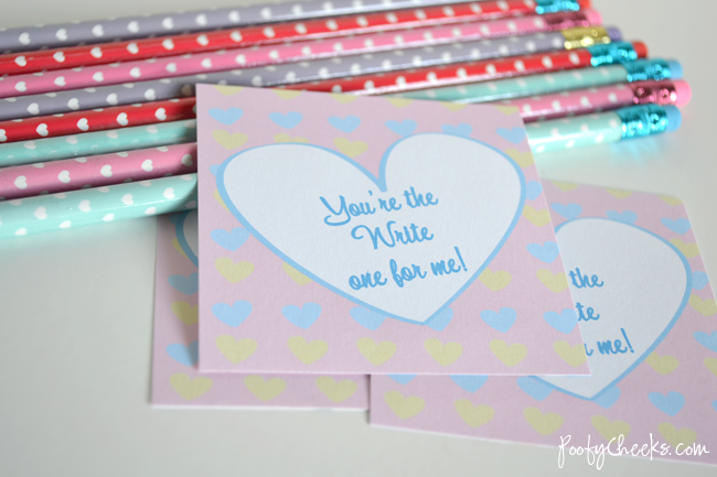 You're the Write One Valentine Printable #valentine #printable